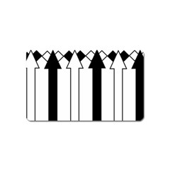 Funny Black And White Stripes Diamonds Arrows Magnet (name Card) by yoursparklingshop