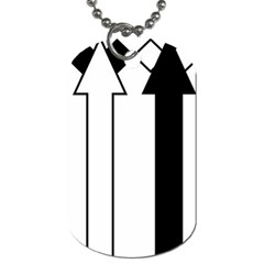 Funny Black And White Stripes Diamonds Arrows Dog Tag (one Side) by yoursparklingshop