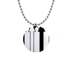 Funny Black And White Stripes Diamonds Arrows Button Necklaces by yoursparklingshop