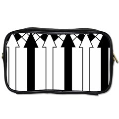 Funny Black And White Stripes Diamonds Arrows Toiletries Bags 2 Side by yoursparklingshop