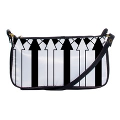 Funny Black And White Stripes Diamonds Arrows Shoulder Clutch Bags by yoursparklingshop