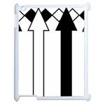 Funny Black and White Stripes Diamonds Arrows Apple iPad 2 Case (White) Front