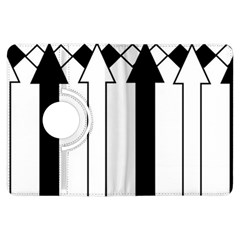 Funny Black And White Stripes Diamonds Arrows Kindle Fire Hdx Flip 360 Case by yoursparklingshop