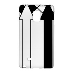 Funny Black and White Stripes Diamonds Arrows Galaxy Note Edge by yoursparklingshop