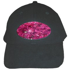 Festive Hot Pink Glitter Merry Christmas Tree  Black Cap by yoursparklingshop