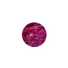 Festive Hot Pink Glitter Merry Christmas Tree  1  Mini Buttons by yoursparklingshop