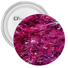 Festive Hot Pink Glitter Merry Christmas Tree  3  Buttons by yoursparklingshop