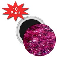 Festive Hot Pink Glitter Merry Christmas Tree  1 75  Magnets (10 Pack)  by yoursparklingshop
