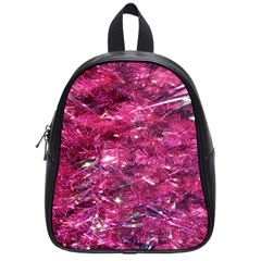 Festive Hot Pink Glitter Merry Christmas Tree  School Bags (small)  by yoursparklingshop