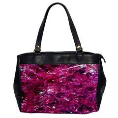 Festive Hot Pink Glitter Merry Christmas Tree  Office Handbags by yoursparklingshop