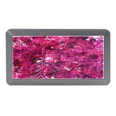 Festive Hot Pink Glitter Merry Christmas Tree  Memory Card Reader (mini) by yoursparklingshop
