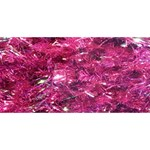 Festive Hot Pink Glitter Merry Christmas Tree  #1 DAD 3D Greeting Card (8x4)  Back