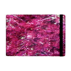 Festive Hot Pink Glitter Merry Christmas Tree  Apple Ipad Mini Flip Case by yoursparklingshop