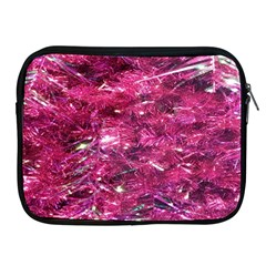 Festive Hot Pink Glitter Merry Christmas Tree  Apple Ipad 2/3/4 Zipper Cases by yoursparklingshop