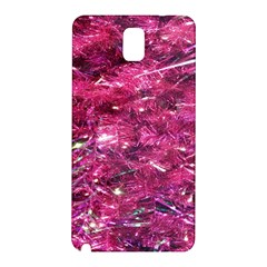 Festive Hot Pink Glitter Merry Christmas Tree  Samsung Galaxy Note 3 N9005 Hardshell Back Case by yoursparklingshop
