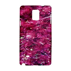 Festive Hot Pink Glitter Merry Christmas Tree  Samsung Galaxy Note 4 Hardshell Case by yoursparklingshop