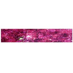 Festive Hot Pink Glitter Merry Christmas Tree  Flano Scarf (large) by yoursparklingshop