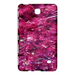 Festive Hot Pink Glitter Merry Christmas Tree  Samsung Galaxy Tab 4 (7 ) Hardshell Case  by yoursparklingshop