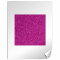 Metallic Pink Glitter Texture Canvas 18  X 24   by yoursparklingshop