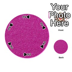 Metallic Pink Glitter Texture Playing Cards 54 (round)  by yoursparklingshop