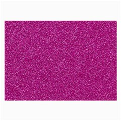 Metallic Pink Glitter Texture Large Glasses Cloth (2 Side) by yoursparklingshop