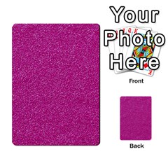 Metallic Pink Glitter Texture Multi Purpose Cards (rectangle)  by yoursparklingshop