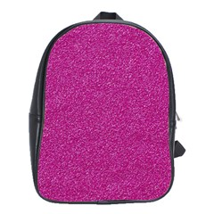 Metallic Pink Glitter Texture School Bags(large)  by yoursparklingshop
