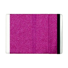 Metallic Pink Glitter Texture Ipad Mini 2 Flip Cases by yoursparklingshop