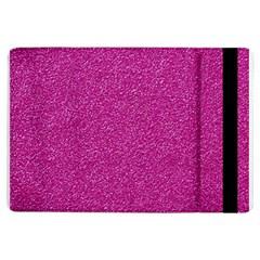Metallic Pink Glitter Texture Ipad Air Flip by yoursparklingshop