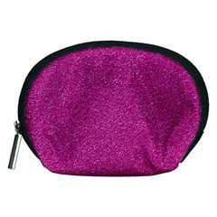 Metallic Pink Glitter Texture Accessory Pouches (medium)  by yoursparklingshop