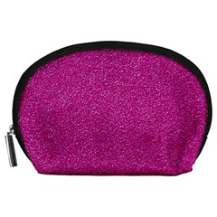 Metallic Pink Glitter Texture Accessory Pouches (large)  by yoursparklingshop