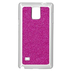 Metallic Pink Glitter Texture Samsung Galaxy Note 4 Case (white) by yoursparklingshop