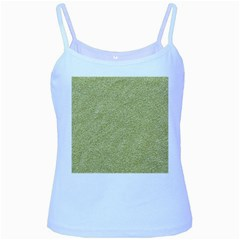 Festive White Gold Glitter Texture Baby Blue Spaghetti Tank by yoursparklingshop