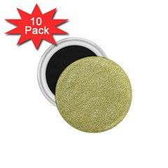 Festive White Gold Glitter Texture 1 75  Magnets (10 Pack)  by yoursparklingshop