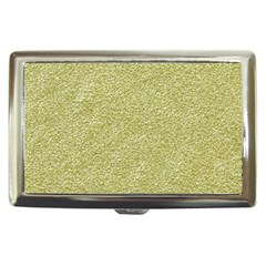 Festive White Gold Glitter Texture Cigarette Money Cases by yoursparklingshop