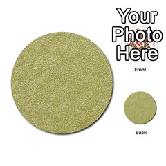 Festive White Gold Glitter Texture Multi Purpose Cards (round)  by yoursparklingshop