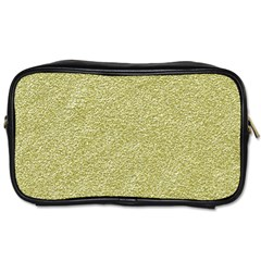 Festive White Gold Glitter Texture Toiletries Bags 2 Side by yoursparklingshop