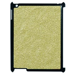 Festive White Gold Glitter Texture Apple iPad 2 Case (Black) by yoursparklingshop