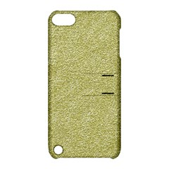 Festive White Gold Glitter Texture Apple Ipod Touch 5 Hardshell Case With Stand