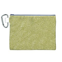 Festive White Gold Glitter Texture Canvas Cosmetic Bag (xl)  by yoursparklingshop
