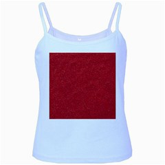 Festive Red Glitter Texture Baby Blue Spaghetti Tank by yoursparklingshop