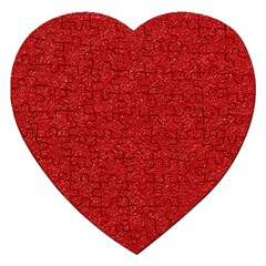 Festive Red Glitter Texture Jigsaw Puzzle (heart) by yoursparklingshop