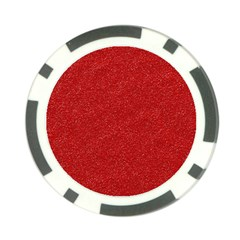 Festive Red Glitter Texture Poker Chip Card Guards by yoursparklingshop