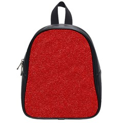 Festive Red Glitter Texture School Bags (small)  by yoursparklingshop