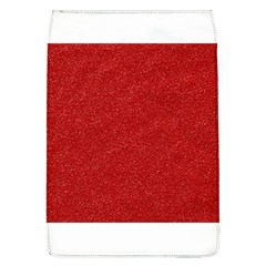 Festive Red Glitter Texture Flap Covers (l)  by yoursparklingshop