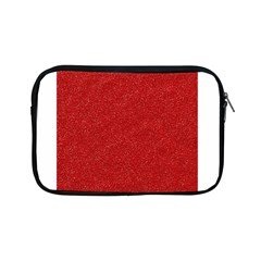 Festive Red Glitter Texture Apple Ipad Mini Zipper Cases by yoursparklingshop