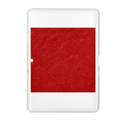 Festive Red Glitter Texture Samsung Galaxy Tab 2 (10 1 ) P5100 Hardshell Case  by yoursparklingshop