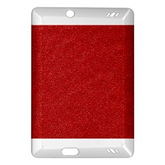 Festive Red Glitter Texture Amazon Kindle Fire Hd (2013) Hardshell Case by yoursparklingshop