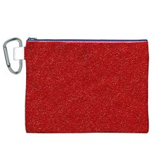 Festive Red Glitter Texture Canvas Cosmetic Bag (xl)  by yoursparklingshop