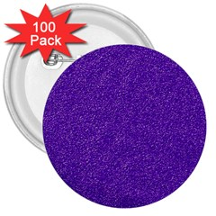 Festive Purple Glitter Texture 3  Buttons (100 Pack)  by yoursparklingshop